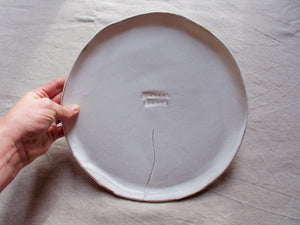 Plate / Serving dish - XL - 'family style' - Matt white