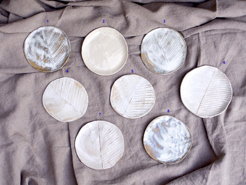 myhungryvalentine-studio-ceramics-seconds-plate-stripes-group