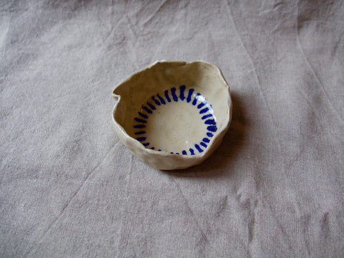 myhungryvalentine-studio-ceramics-seconds-simple-trinketdish-wavy-cobaltbluestripes-side
