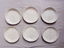 Load image into Gallery viewer, myhungryvalentine-studio-ceramics-seconds-stripes-pasta-plates-set-6-cream-top