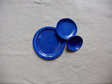 Load image into Gallery viewer, myhungryvalentine-studio-ceramics-seconds-stripes-plate-bowls-set-myosotisblue-top-2