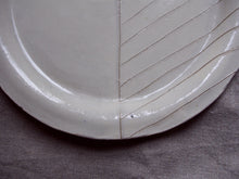 Load image into Gallery viewer, myhungryvalentine-studio-ceramics-seconds-stripes-rimmedplate-small-cream-zoom