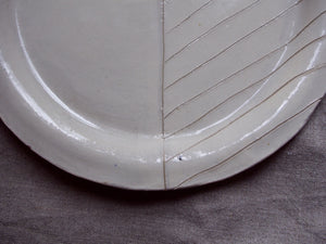 myhungryvalentine-studio-ceramics-seconds-stripes-rimmedplate-small-cream-zoom