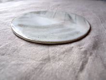 Load image into Gallery viewer, myhungryvalentine-studio-ceramics-seconds-stripes-trivet-bruisedpeach-side
