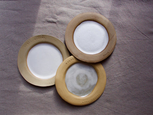 myhungryvalentine-studio-ceramics-seconds-wordontheclay-rimmedplates-trio-top-1