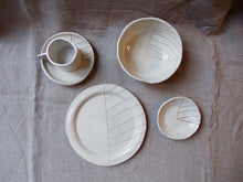 Load image into Gallery viewer, Cream Breakfast Single Set - Stripes - 5 pieces