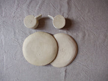 Load image into Gallery viewer, myhungryvalentine-studio-ceramics-sets-breakfast-cakeplateandespressocups-cloudywhite-back