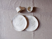 Load image into Gallery viewer, myhungryvalentine-studio-ceramics-sets-breakfast-cakeplateandespressocups-cloudywhite-top-2