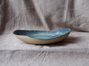 Egg-shaped serving dish - Simple - Cloudy green