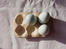 Load image into Gallery viewer, myhungryvalentine-studio-ceramics-simple-eggtray-blushpink-top-eggs