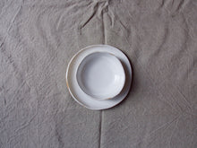 Load image into Gallery viewer, myhungryvalentine-studio-ceramics-simple-glosswhite-cakeplateandbowl-top