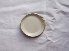 Load image into Gallery viewer, myhungryvalentine-studio-ceramics-simple-plate-11-satincream-top-stacked