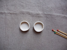 Load image into Gallery viewer, myhungryvalentine-studio-ceramics-simple-tealightholders-small-mattwhite-pair-top-2