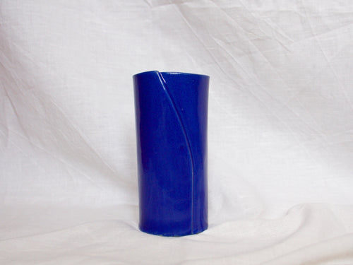 my hungry valentine-studio-ceramics-simple-vase-medium-myosotis blue