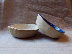 Bowl - Medium - Stripes - Dark blue