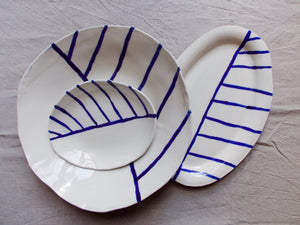 myhungryvalentine-studio-ceramics-stripes-servingdishes-cream-cobaltbluestripes-group-2