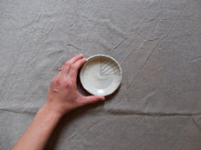 Load image into Gallery viewer, myhungryvalentine-studio-ceramics-stripes-trinketdish-myosotisblue-hand