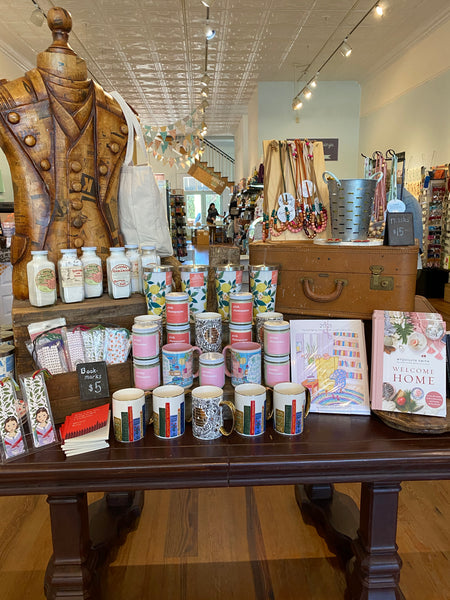 A lovely spring display at The Bookshelf, a small women owned bookstore in Thomasville GA