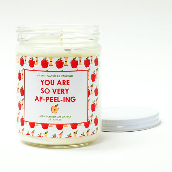 """You Are So Very Ap-peel-ing"" 16oz. Soy Wax Candle"