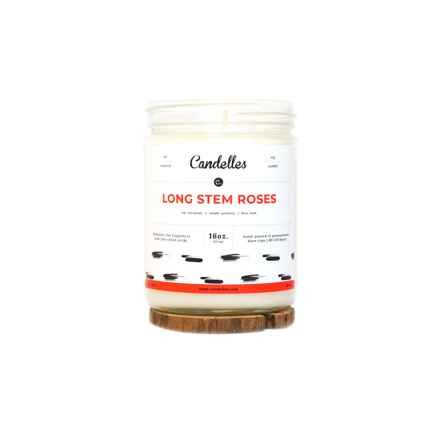 Long Stem Roses Soy Candle - Standard