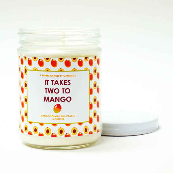"""It Takes Two To Mango"" 16oz. Soy Wax Candle"
