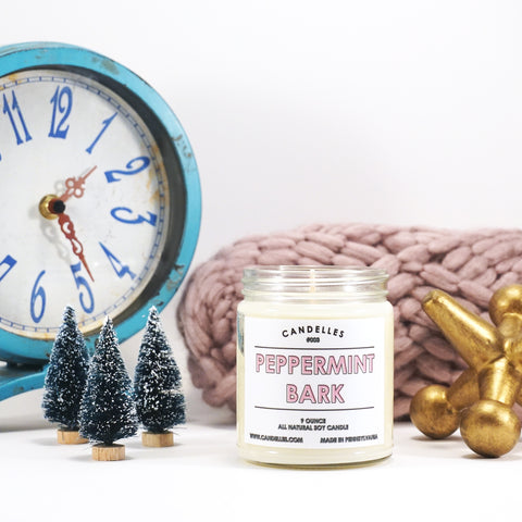 Peppermint Bark 9oz. Soy Wax Candle