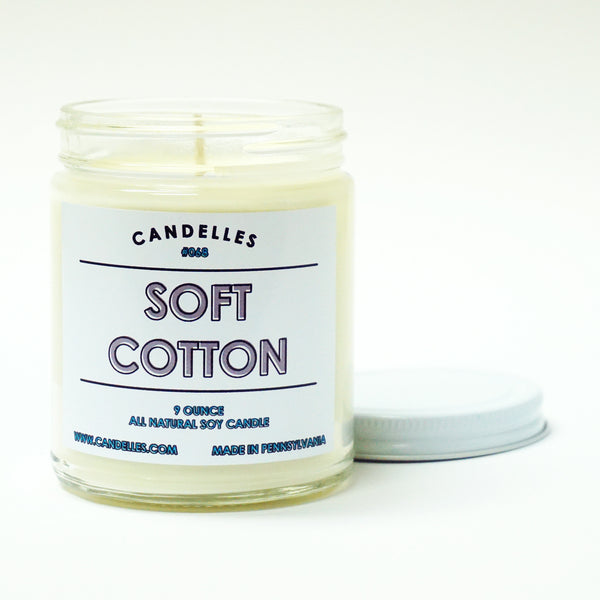 Soft Cotton 9oz. Soy Wax Candle