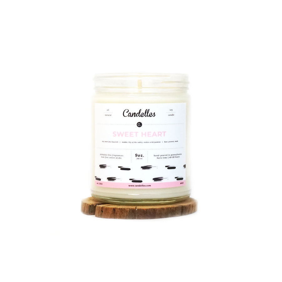 Sweet Heart Soy Candle - Petite