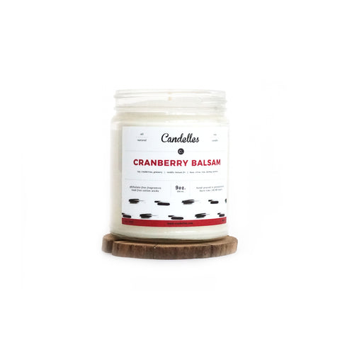 Cranberry Balsam 9oz. Soy Wax Candle