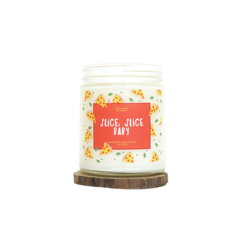 """Slice, Slice Baby"" 9oz. Soy Wax Candle"