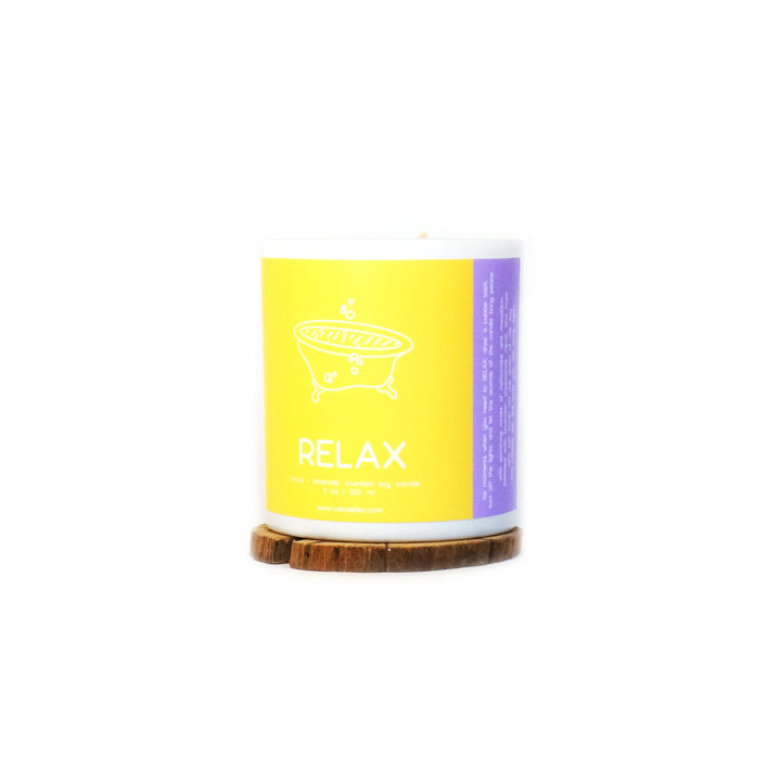 RELAX - Citrus + Lavender Tumbler Soy Candle