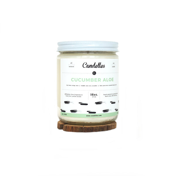 Cucumber Aloe Soy Candle - Standard