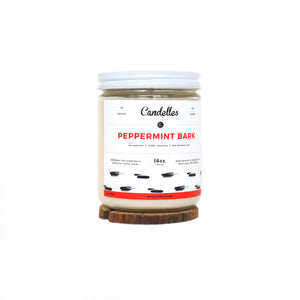 Peppermint Bark Soy Candle - Standard