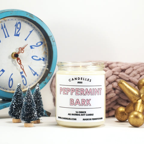 Peppermint Bark 16oz. Soy Wax Candle