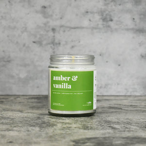 Amber and Vanilla Soy Candle - Petite