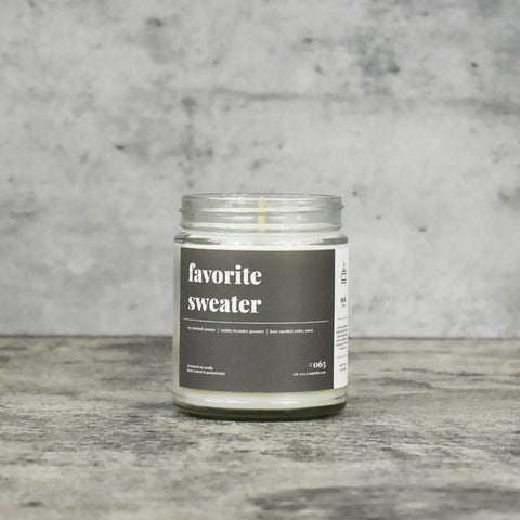 Favorite Sweater 16oz. Soy Wax Candle
