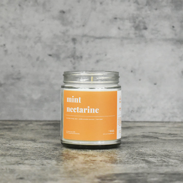 Mint Nectarine Soy Candle - Petite