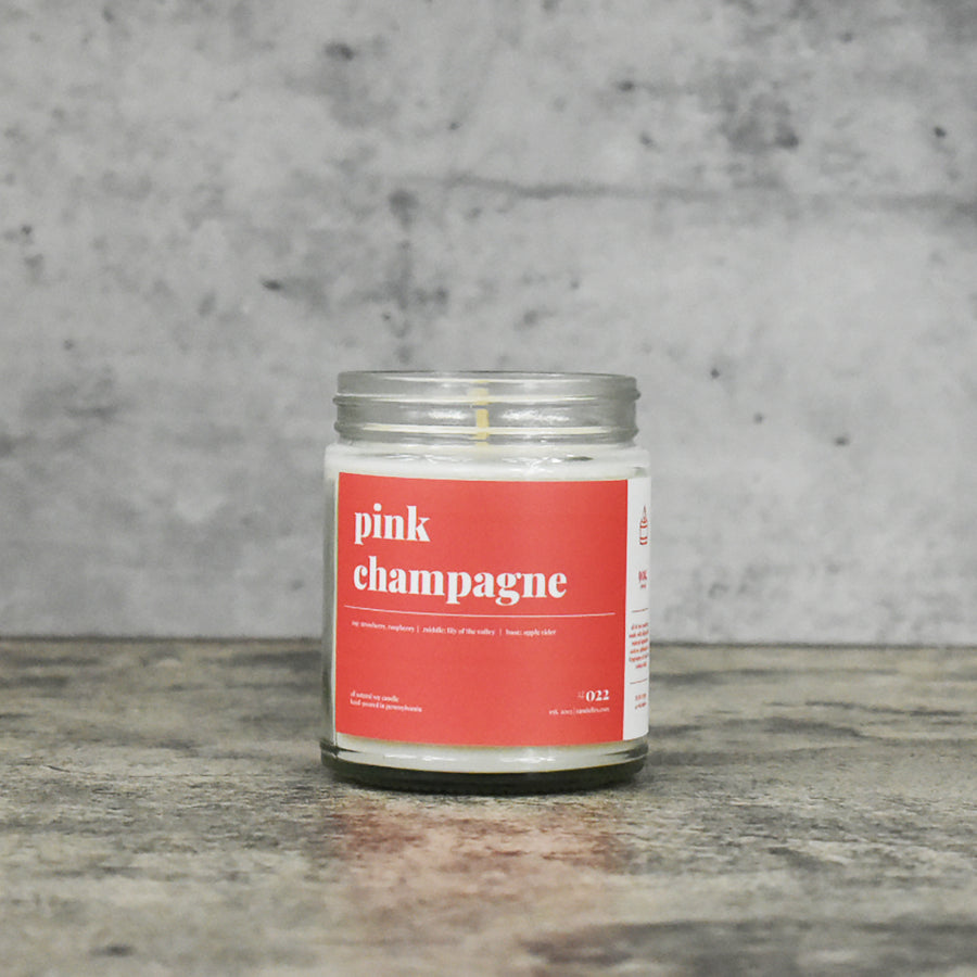 Pink Champagne Soy Candle - Petite
