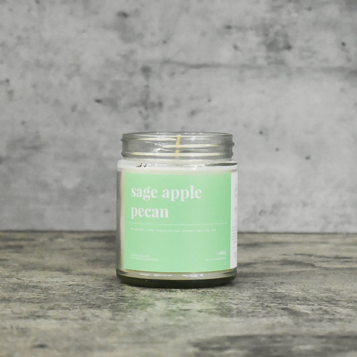 Sage and Apple Pecan Soy Candle - Petite