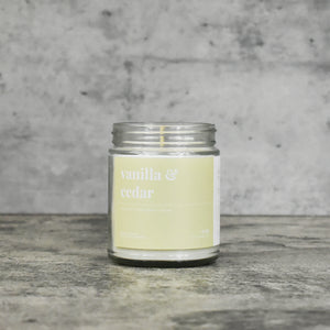 Vanilla and Cedar Soy Candle - Petite