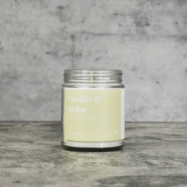 Vanilla and Cedar Soy Candle - Standard