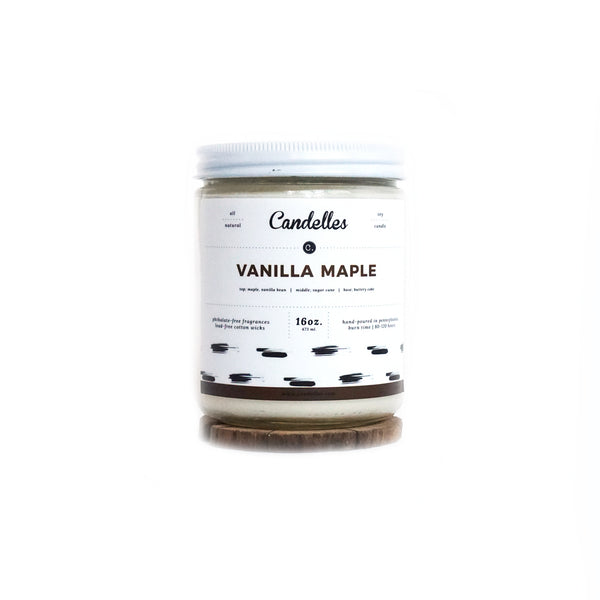 Vanilla Maple 16oz. Soy Wax Candle