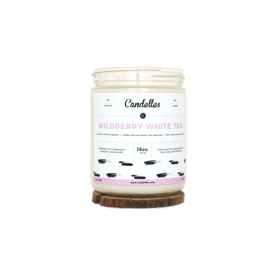 Wildberry White Tea Soy Candle - Standard