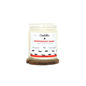 Peppermint Bark Soy Candle - Petite