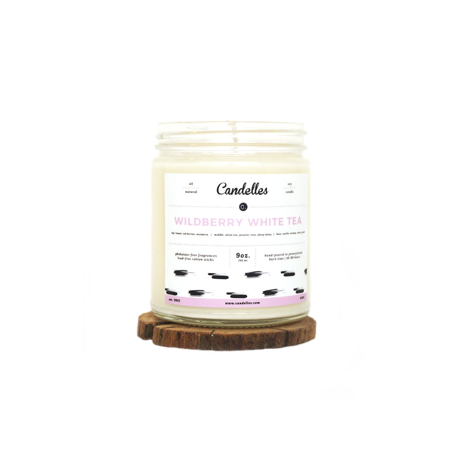 Wildberry White Tea Soy Candle - Petite