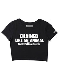 Chained Like an Animal - Girl's Crop Top