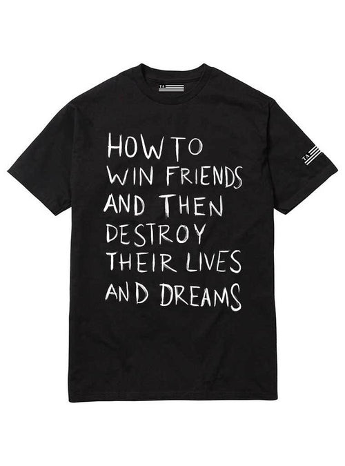 How To Win Friends | Unisex t-shirt by These Americans