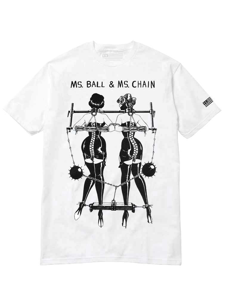 Ms. Ball & Ms. Chain | Unisex t-shirt by These Americans