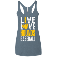 Load image into Gallery viewer, I love the Hounds Ladies' Triblend Racerback Tank