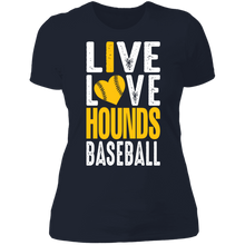 Load image into Gallery viewer, I Love the Hounds Ladies' Boyfriend T-Shirt